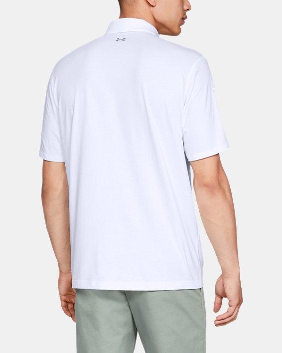 Men's Charged Cotton® Scramble Polo, White, pdpMainDesktop image number 2