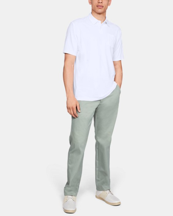 Men's Charged Cotton® Scramble Polo, White, pdpMainDesktop image number 1