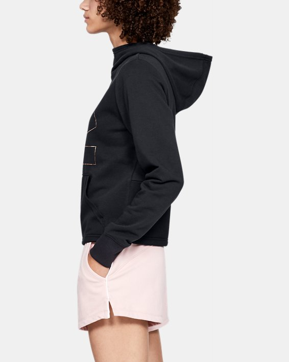 Women's UA 24/7 Microthread Hoodie, Black, pdpMainDesktop image number 3