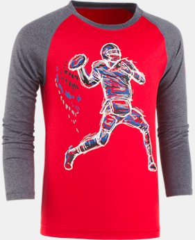 New Arrival Boys' Toddler UA Illuminated QB Raglan   $22.99