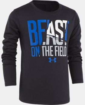 New Arrival Boys' Pre-School UA Beast On The Field Long Sleeve Shirt  1 Color $27.99