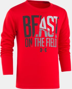 New Arrival Boys' Toddler UA Beast On The Field Long Sleeve Shirt  1 Color $27.99