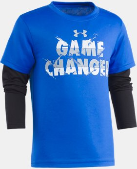 New Arrival Boys' Pre-School UA Game Changer Slider  1 Color $29.99