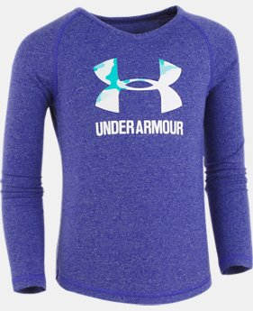 Girls' Pre-School UA Split Logo Thermal  1 Color $27.99