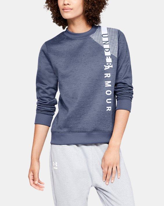 Haut à col ras du cou Armour Fleece® pour femme, Blue, pdpMainDesktop image number 0