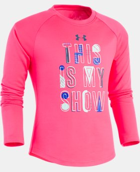 New Arrival Girls' Toddler UA This Is My Show Long Sleeve  1 Color $24.99