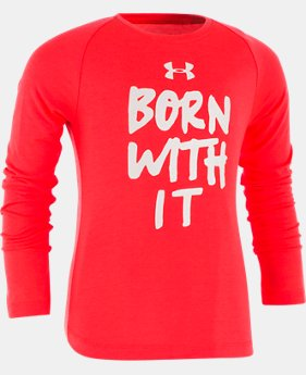 New Arrival Girls' Toddler UA Born With It Long Sleeve  1 Color $27.99