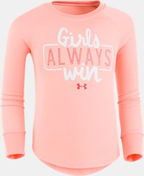 New Arrival Girls' Pre-School UA Always Win Thermal  1 Color $29.99
