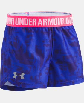 New Arrival Girls' Pre-School UA Painted Streak Play Up Shorts  1 Color $19.99