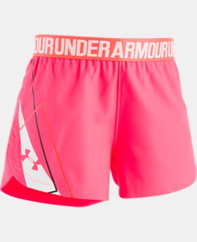 New Arrival Girls' Pre-School UA Play Up Shorts Graphic  1  Color Available $19.99