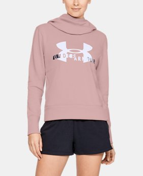 Women's UA Rival Fleece Logo Hoodie  1  Color Available $50