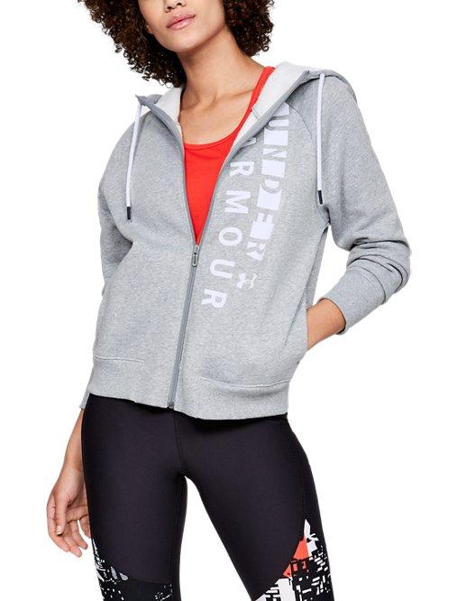 6ded5ce5ec Women's UA Rival Fleece Full Zip Hoodie