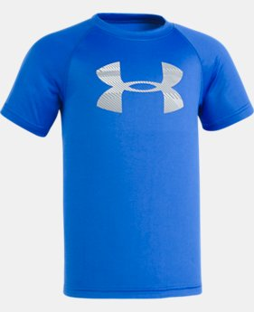 Boys' Pre-School UA Speedlines Big Logo Short Sleeve  2 Colors $17.99