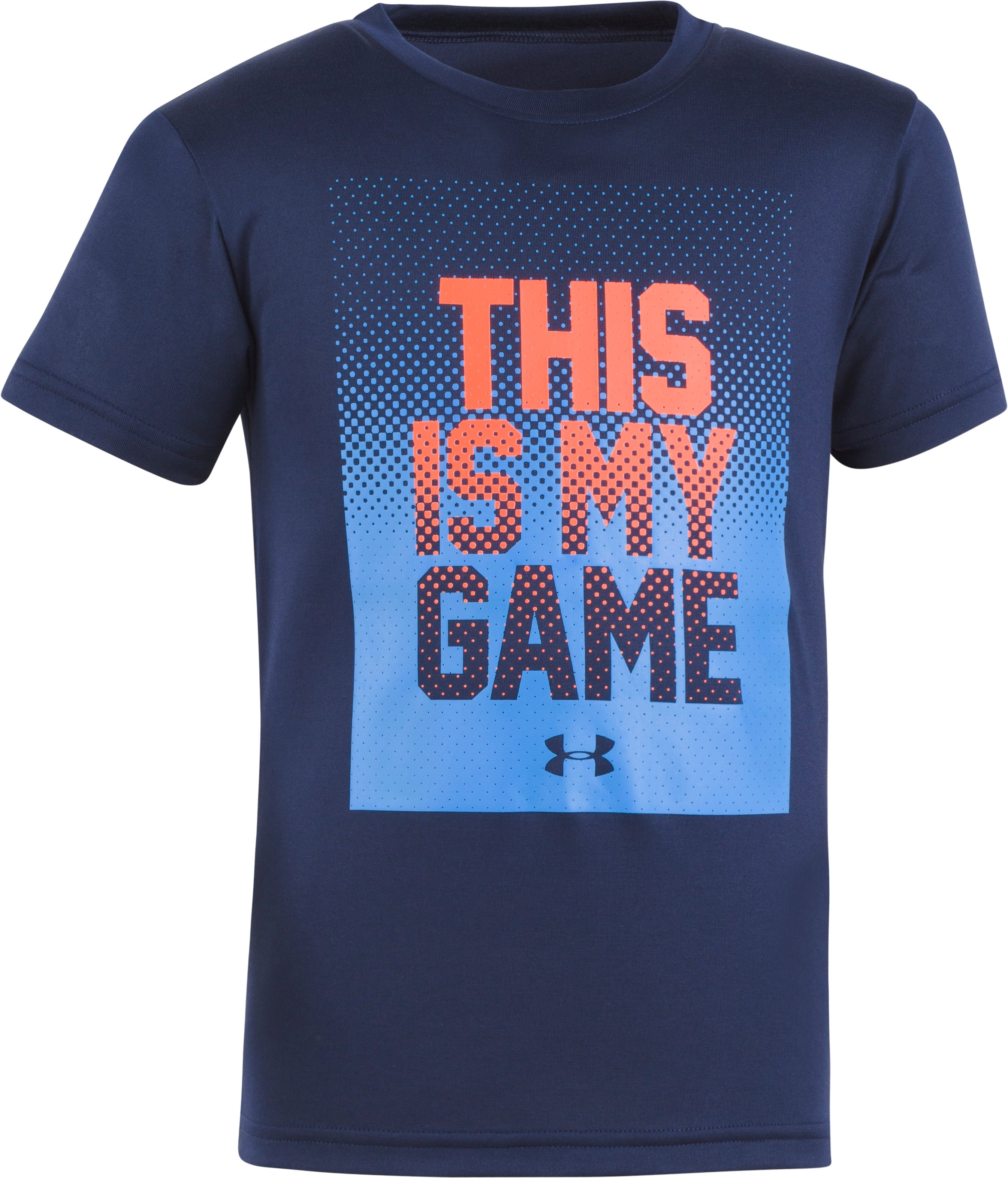 Boys' Infant UA This Is My Game Short Sleeve Shirt, Midnight Navy, Laydown