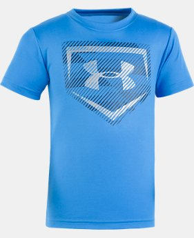 Boys' Pre-School UA Home Plate Short Sleeve Shirt  1 Color $17.99