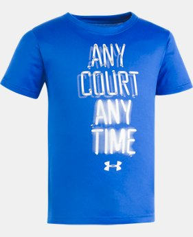 New Arrival Boys' Pre-School UA Any Court Any Time Short Sleeve Shirt  1 Color $17.99