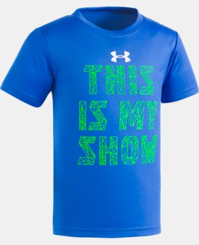 New Arrival Boys' Pre-School UA This Is My Show Short Sleeve Shirt  1 Color $17.99