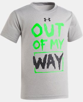 New Arrival Boys' Pre-School UA Out Of My Way Short Sleeve  1 Color $17.99