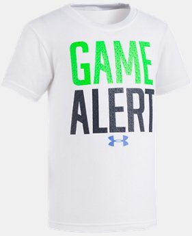 New Arrival Boys' Pre-School UA Game Alert Short Sleeve  1 Color $17.99