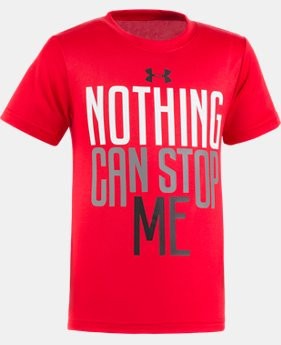 New Arrival Boys' Pre-School UA Nothing Can Stop Me Short Sleeve  1 Color $17.99