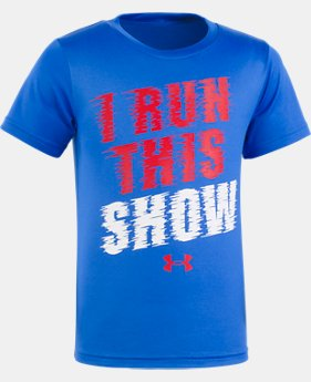 New Arrival Boys' Toddler UA I Run This Show Short Sleeve  1 Color $17.99