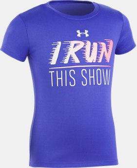 Girls' Pre-School UA I Run This Show Short Sleeve T-Shirt  1 Color $10.49