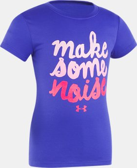 New Arrival Girls' Infant UA Make Some Noise Short Sleeve T-Shirt   $17.99