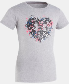 Girls' Toddler UA Splatter Heart Short Sleeve T-Shirt  1  Color Available $21.99