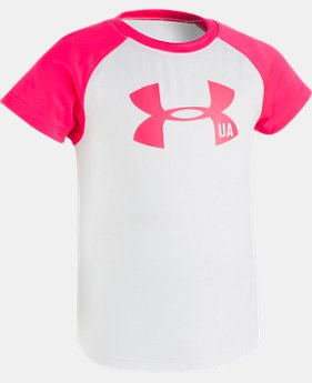 Girls' Pre-School UA Big Logo Raglan Short Sleeve Shirt  1 Color $14.99