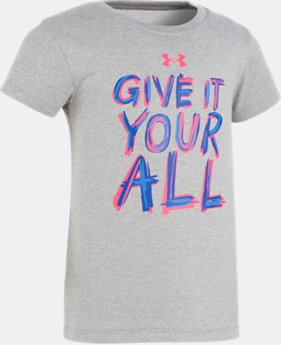 Girls' Pre-School UA Give It Your All Short Sleeve T-Shirt  2 Colors $17.99