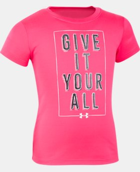 Girls' Pre-School UA Give It Your All Short Sleeve T-Shirt  1 Color $17.99