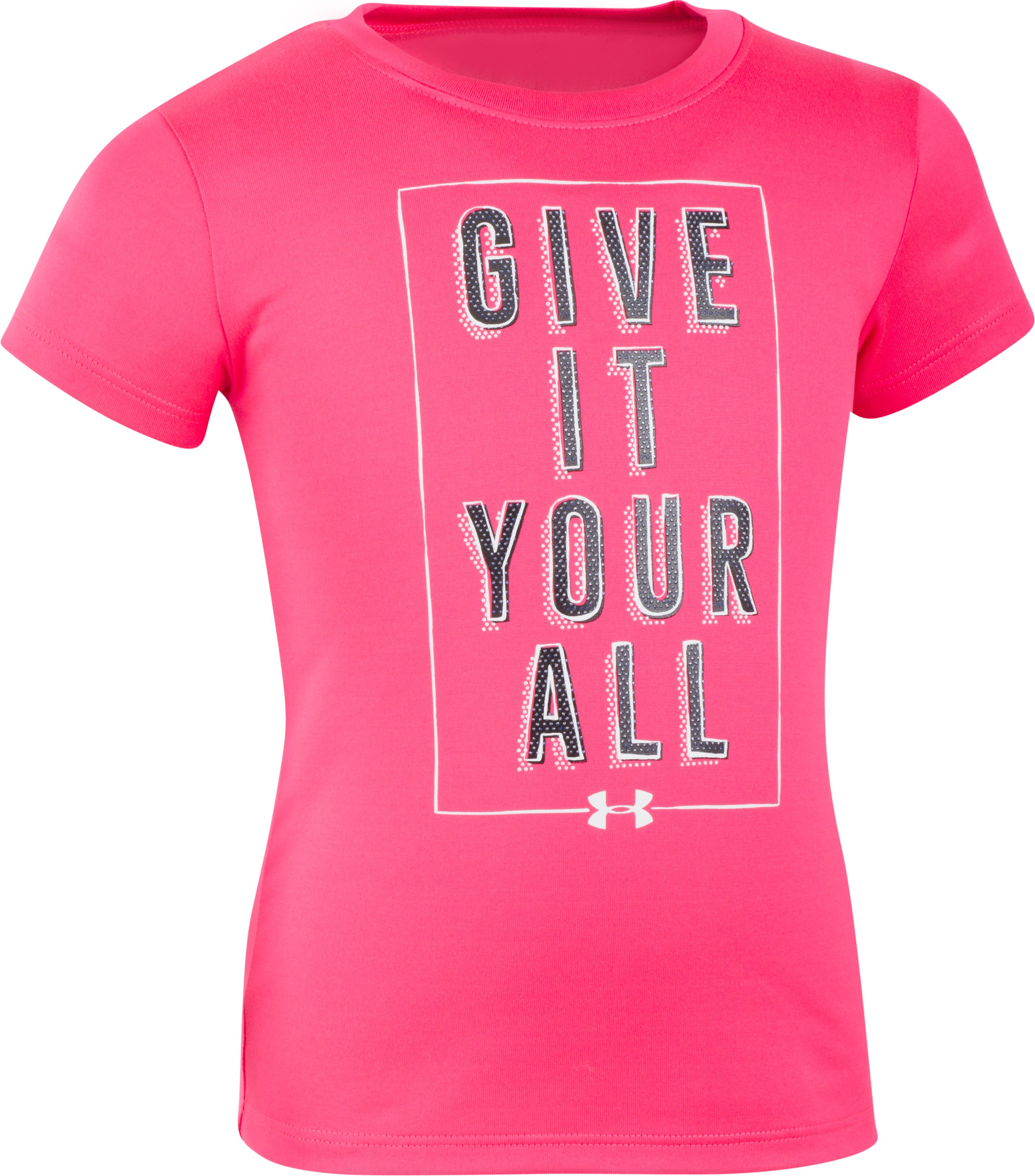 Girls' Toddler UA Give It Your All Short Sleeve T-Shirt, PENTA PINK, zoomed image
