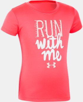 Girls' Pre-School UA Run With Me Short Sleeve  1  Color $17.99