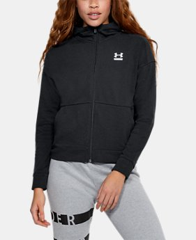 New Arrival Women's UA Microthread Terry Full Zip Hoodie  1 Color $65