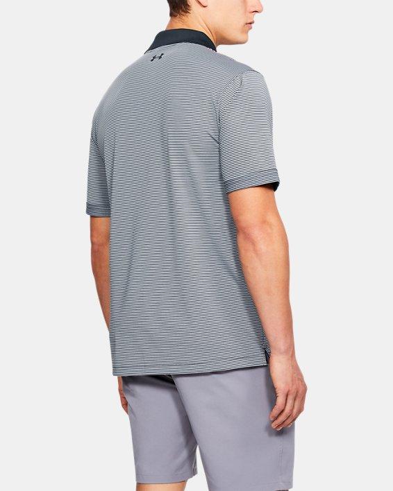 Men's UA Performance Polo Patterned, Black, pdpMainDesktop image number 2