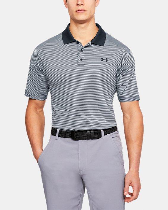 Men's UA Performance Polo Patterned, Black, pdpMainDesktop image number 0