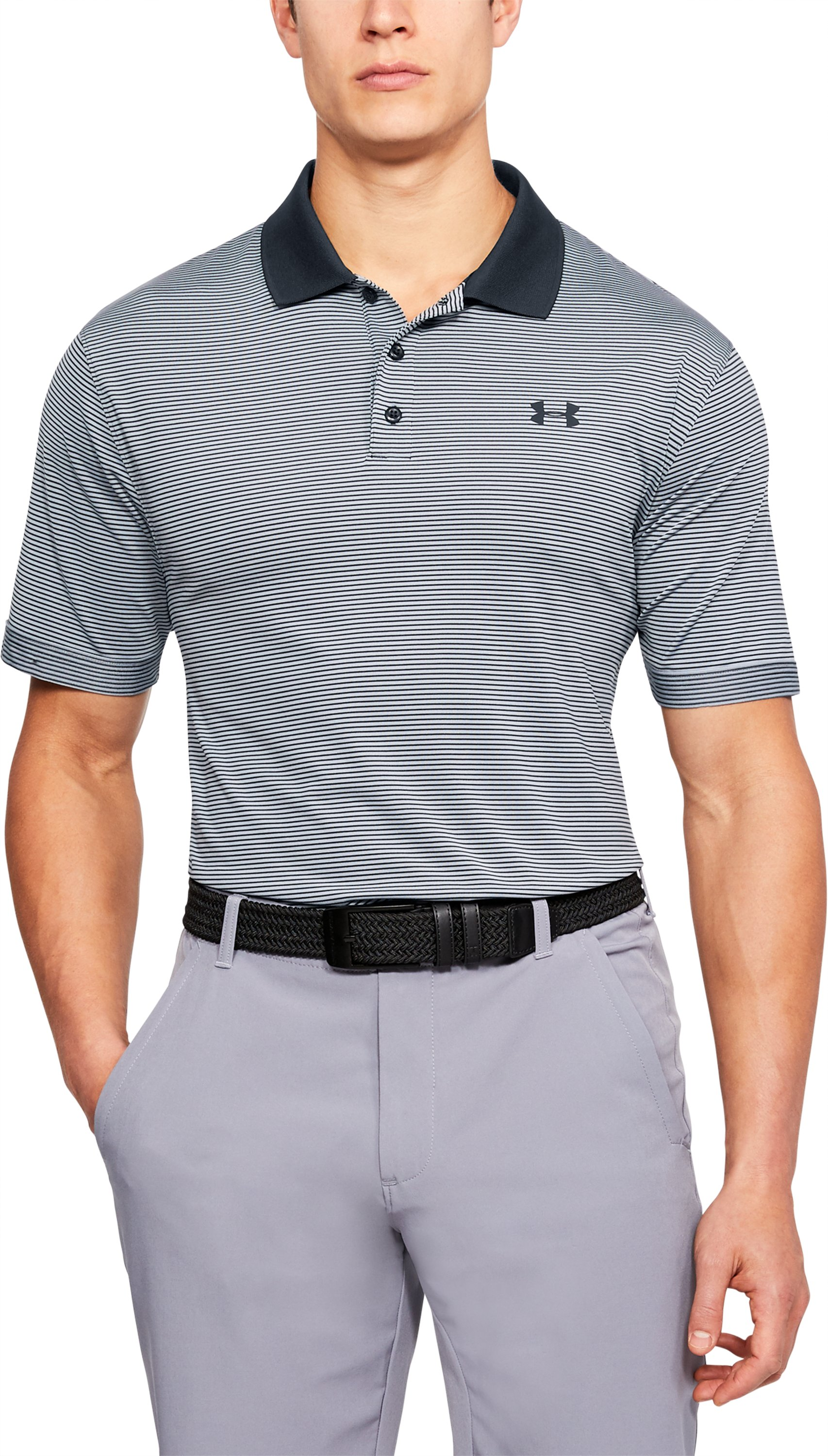 Men's UA Performance Polo Patterned, Black , undefined
