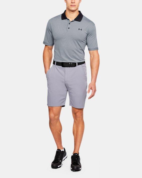 Men's UA Performance Polo Patterned, Black, pdpMainDesktop image number 1