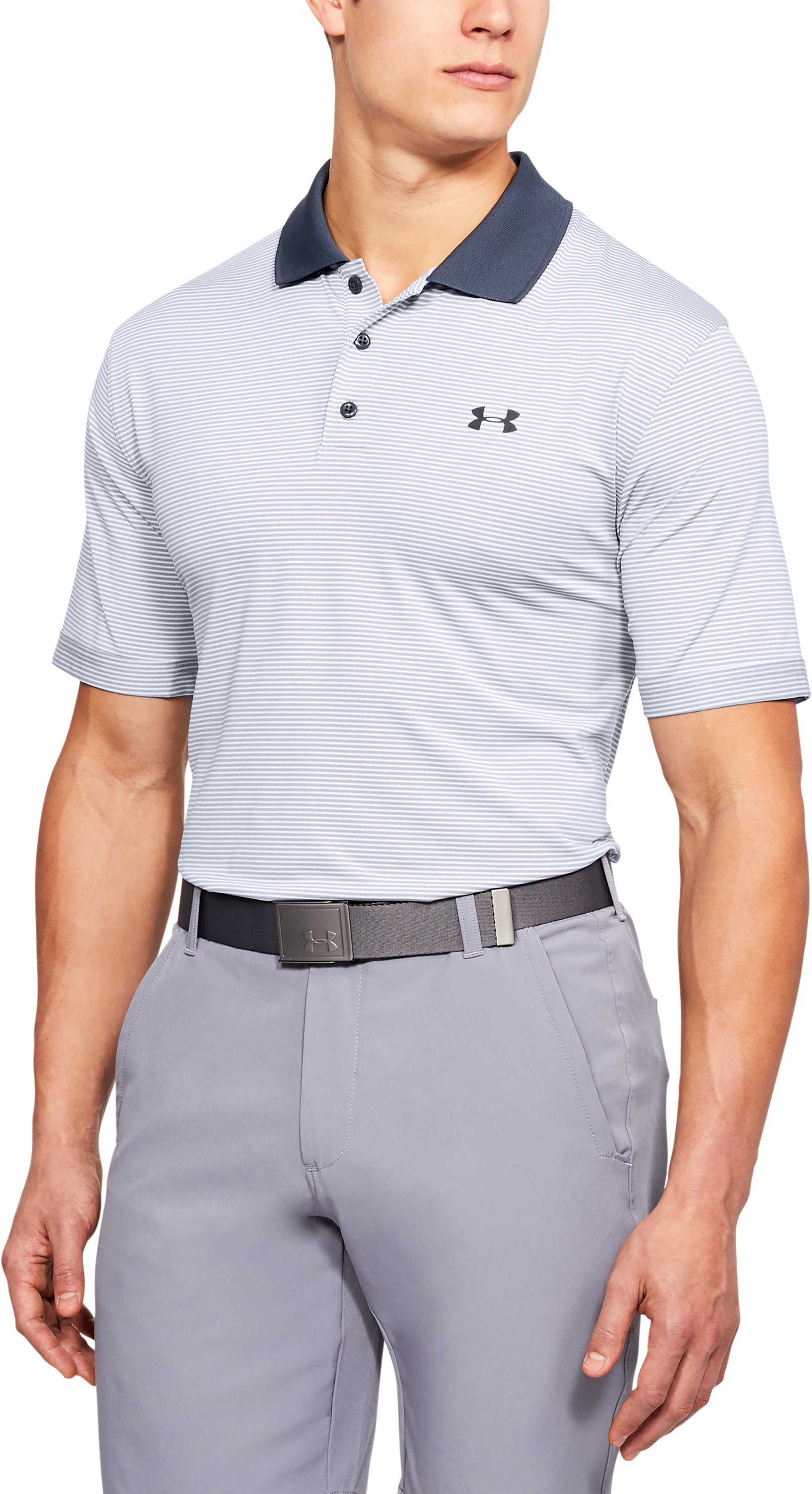 Men's UA Performance Polo Patterned, White,