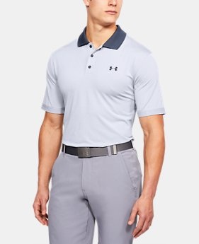 Men's UA Performance Polo Patterned  3  Colors Available $36