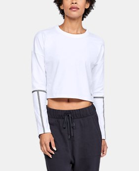 New Arrival  Women's UA Lighter Longer Cropped Crew  4  Colors Available $55