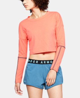 Women's UA Lighter Longer Cropped Crew  1  Color Available $45