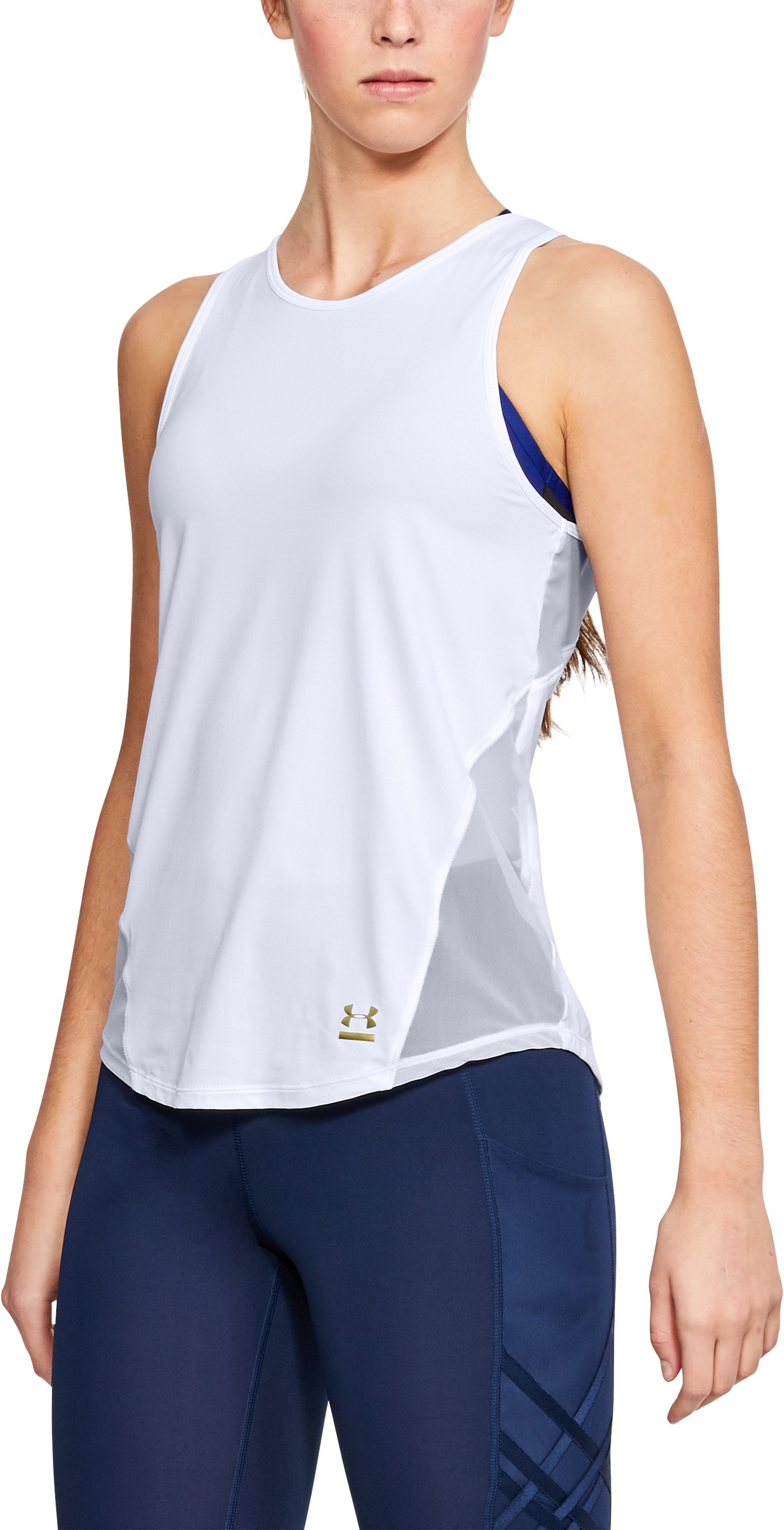 Women's UA Pinnacle Tank, White,