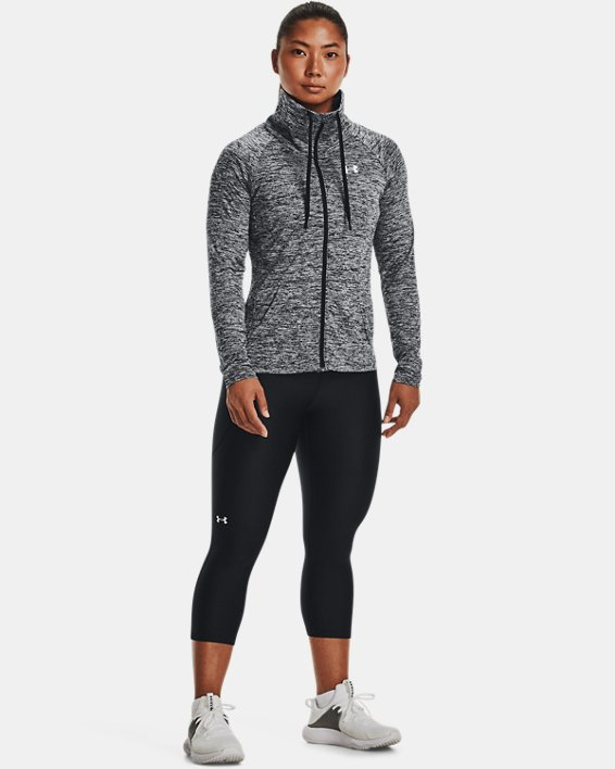 Women's UA Tech™ Twist Full Zip, Black, pdpMainDesktop image number 1