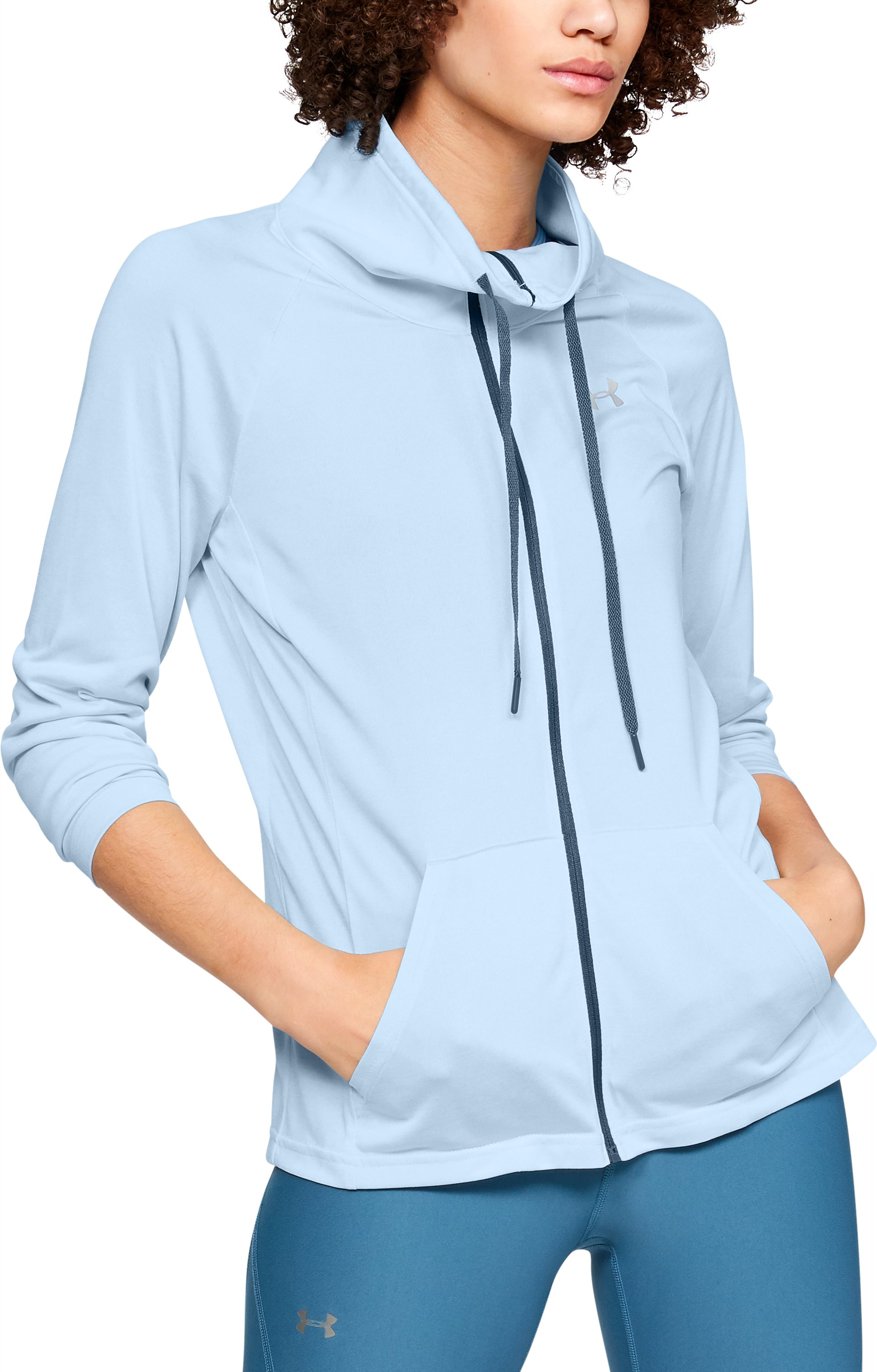 Women's UA Tech™ Twist Full Zip, HALOGEN BLUE,