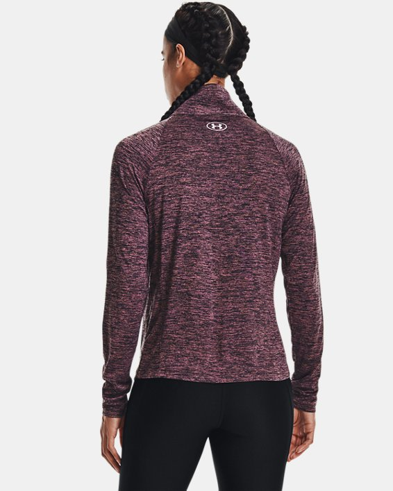 Damen UA Tech™ Oberteil mit Twist-Effekt und durchgehendem Zip, Purple, pdpMainDesktop image number 2