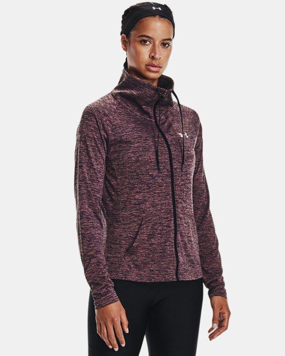 Damen UA Tech™ Oberteil mit Twist-Effekt und durchgehendem Zip, Purple, pdpMainDesktop image number 1