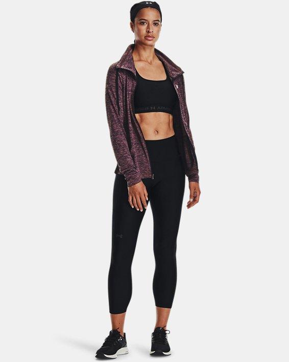Damen UA Tech™ Oberteil mit Twist-Effekt und durchgehendem Zip, Purple, pdpMainDesktop image number 0