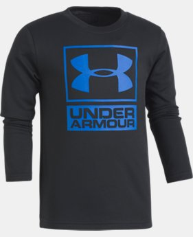 Boys' Pre-School UA Textured Knit Long Sleeve Shirt  1 Color $27.99