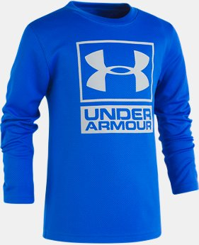 Boys' Toddler UA Textured Knit Long Sleeve Shirt  1  Color Available $20.99